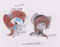 Fairyfoo and Marcela_New Design :3 by RegularBluejay-girl