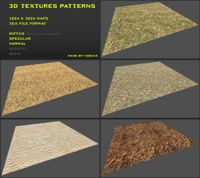 Free 3D textures pack 08 by Yughues
