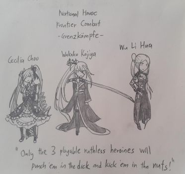 3 Ruthless Heroines by Great-Seraphim-Angel