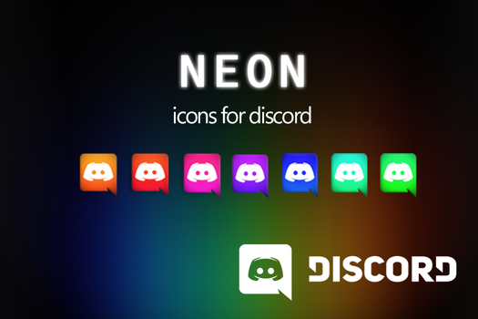 Discord Neon Icons pack by CheezeyGaming