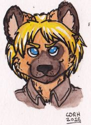 Cial Hyena Bust by Dollmancer
