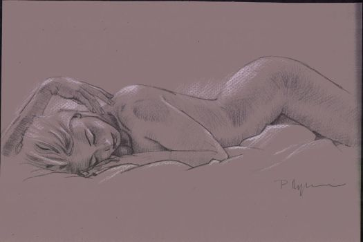 Underdrawing for Oil Painting by peterryczkowski