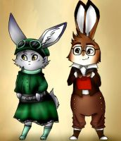 Steampunk Rabbit Adopts {Sold} by EssenceOfWhimsy