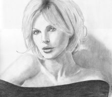 Charlize Theron by DrawingsByTony