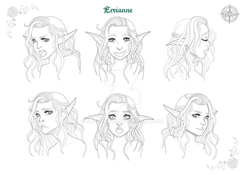 Ereianne, Character Desing Faces by Noemnerys