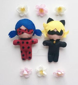 Ladybug and Chat Noir, Miracolous by BakerStreetDolls