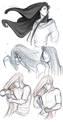 a kai's hair appreciation post by CanaryWitch