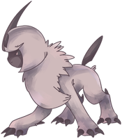 Shiny Absol Commission by AutobotTesla