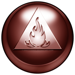 Elemental-buttons Fire by knottyprof