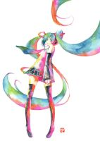 Vocaloid 01 Hatsune Miku by muttiy