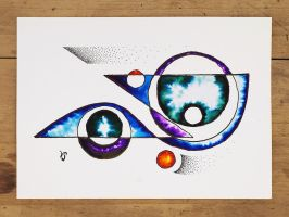 Ink and watercolor design by InkingArt