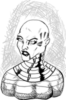 Asajj Ventress Inks by AJthe90skid