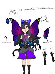 Moonlight Gothic Butterfly witch by AlicornAngel-34