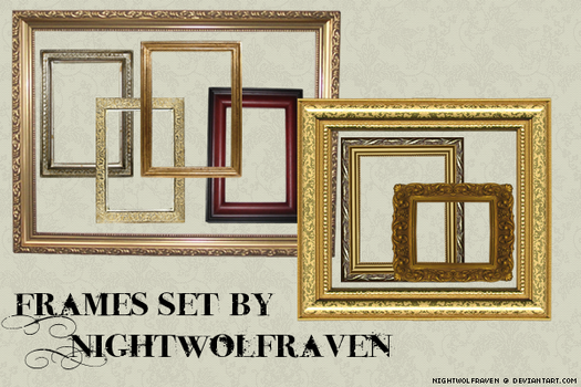 Frames Set+ by nightwolfraven