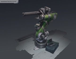 wasteland factory turret by SoundHunter