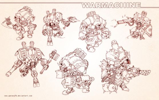 WARMACHINE SKETCH by AdmiraWijaya