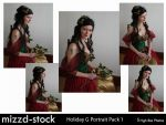 Holiday Goddess Portrait Pack1 by mizzd-stock