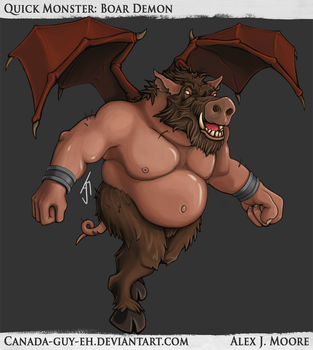 Quick Monster: Boar Demon by Canada-Guy-Eh