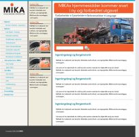 MIKA corporate website by awholeuniverse