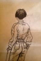 Girl with short hair by darksapphiredrop