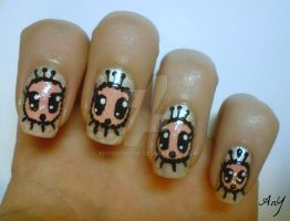 Cute Creature Nail Design by AnyRainbow