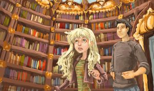 The Library by AmeliaPenDraws