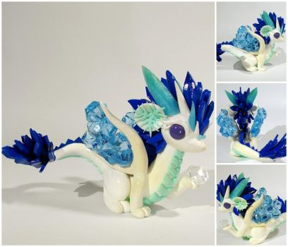 Ice dragon - SOLD by CuteDragonsAndMore