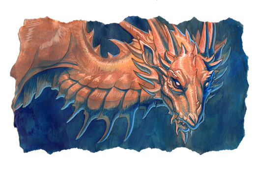 copper dragon by hibbary
