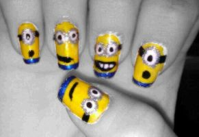 Nails: Despicable_Me_Minions by hiannis12