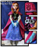 repainted ooak singing anna of arendelle doll. by verirrtesIrrlicht