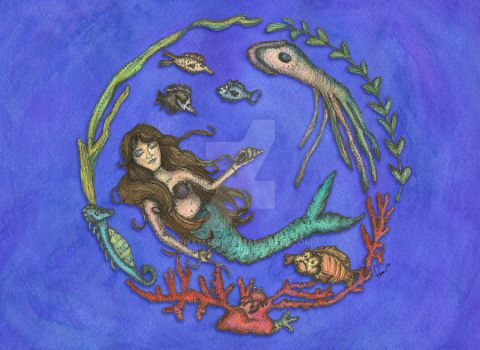Circle Mermaid by pham158