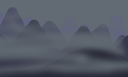 Foggy Night Mountains by Rune266