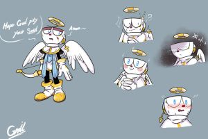 Cuphead the angel by gmil123