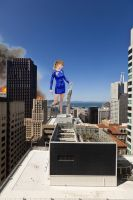 Giant Taylor Swift pulverizing San Francisco by joe116able