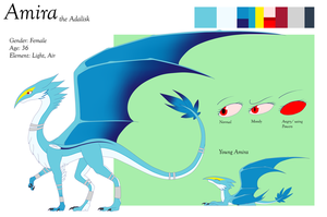 Amira the Adalisk (Reference Sheet) by Nature-Star