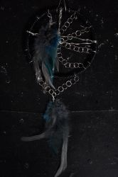 Nontraditional Dreamcatcher: Leather and Chain by Radiant-Cadenza