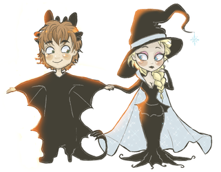 Hiccelsa halloween! by ASAMESHII