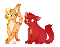 Sparkpaw And Alderpaw by CrispyCh0colate