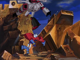 Optimus Prime vs Megatron by du365