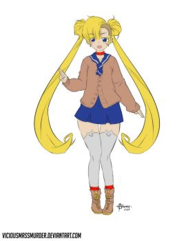 My free version on Sailor Moon!! Cassul Edition by ViciousMassMurder