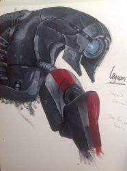 Mass Effect Legion painting by CobaltMedic