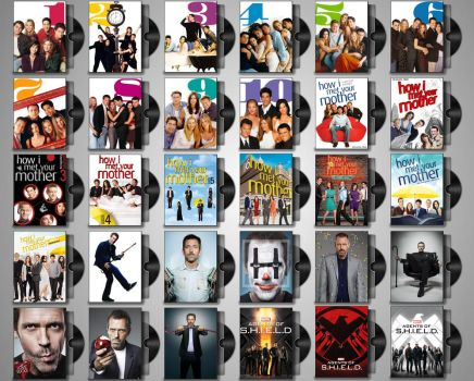 DVD Folder Icons for TV Shows Set#2 by Drac-69