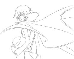 Lelouch anime line art by Enigma-XIII