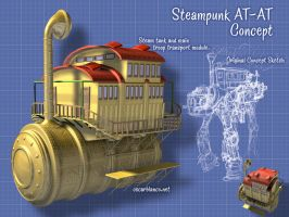 Steampunk AT-AT WIP 001 by otas32