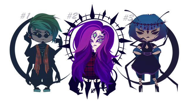 SPOOPY ADOPT BATCH [ONE LEFT] by StringsOnABunny