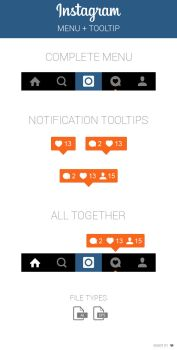 FREE Instagram Menu and Notification Tooltip by MarinaD