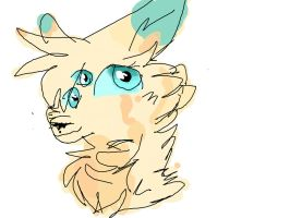Headshot For CatEyes-To-CatTails! by Blue-Pastels