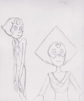 Pearl and Peridot by WhiteLedy