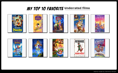 My Top 10 Underrated Movies by JeffersonFan99
