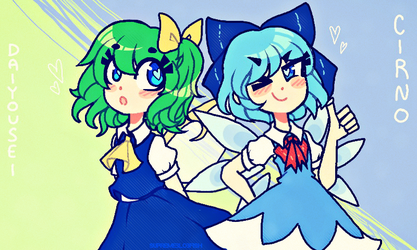 2 - Daiyousei And Cirno by ThePirateDoge